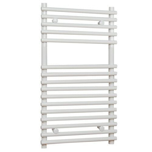 "Flat White Bar on Bar Hydronic Towel Radiator Rail 29.5"" x 17.75"""