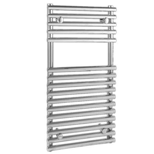 "Flat Chrome Bar on Bar Towel Rail 30"" x 18"""