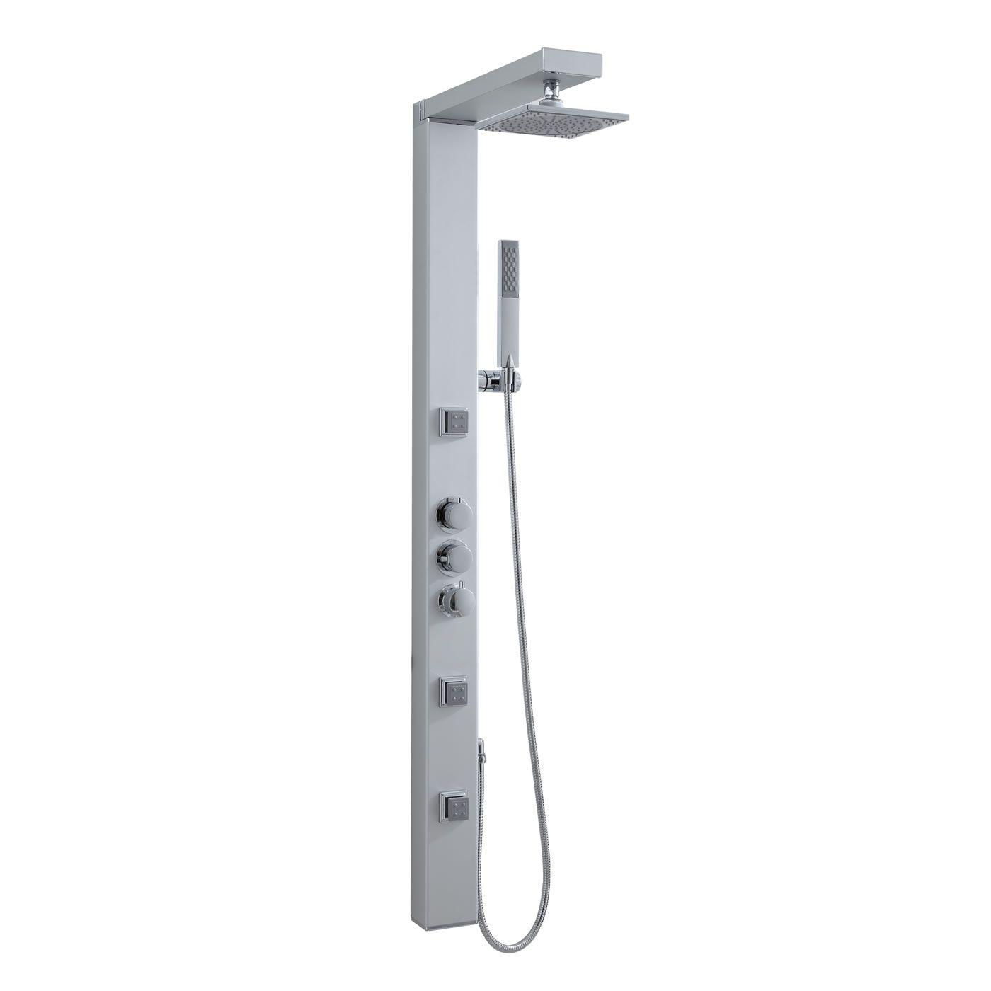 Thermostatic shower panel tower system with over head for Body spray shower systems