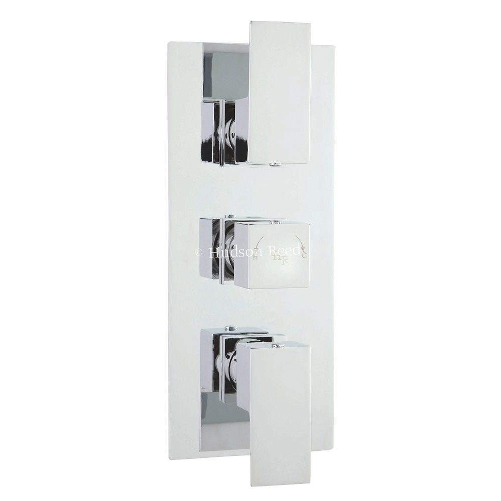 Aspire Concealed Thermostatic Triple Shower Faucet Valve 2 Outlet Options