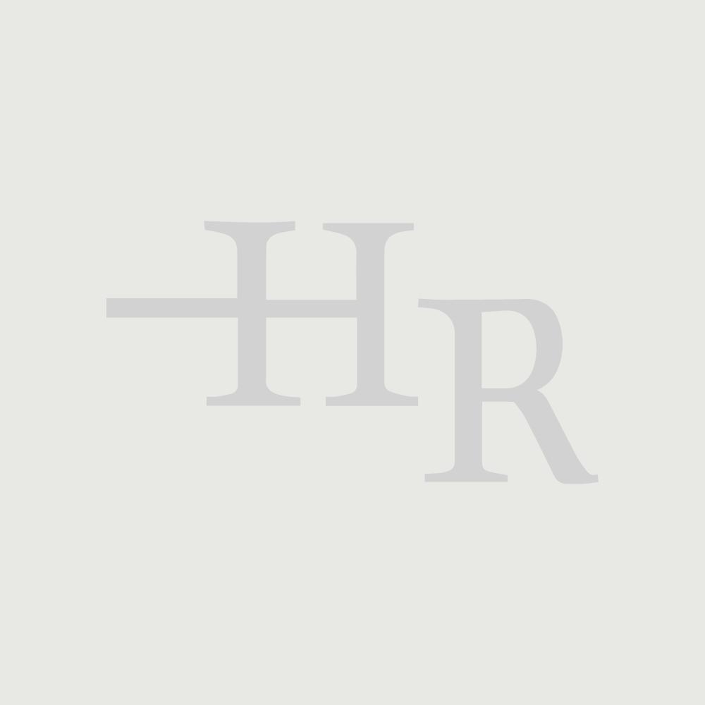 "Revive Double Horizontal Designer Radiator High Gloss Black 25"" x 16 1/3"""