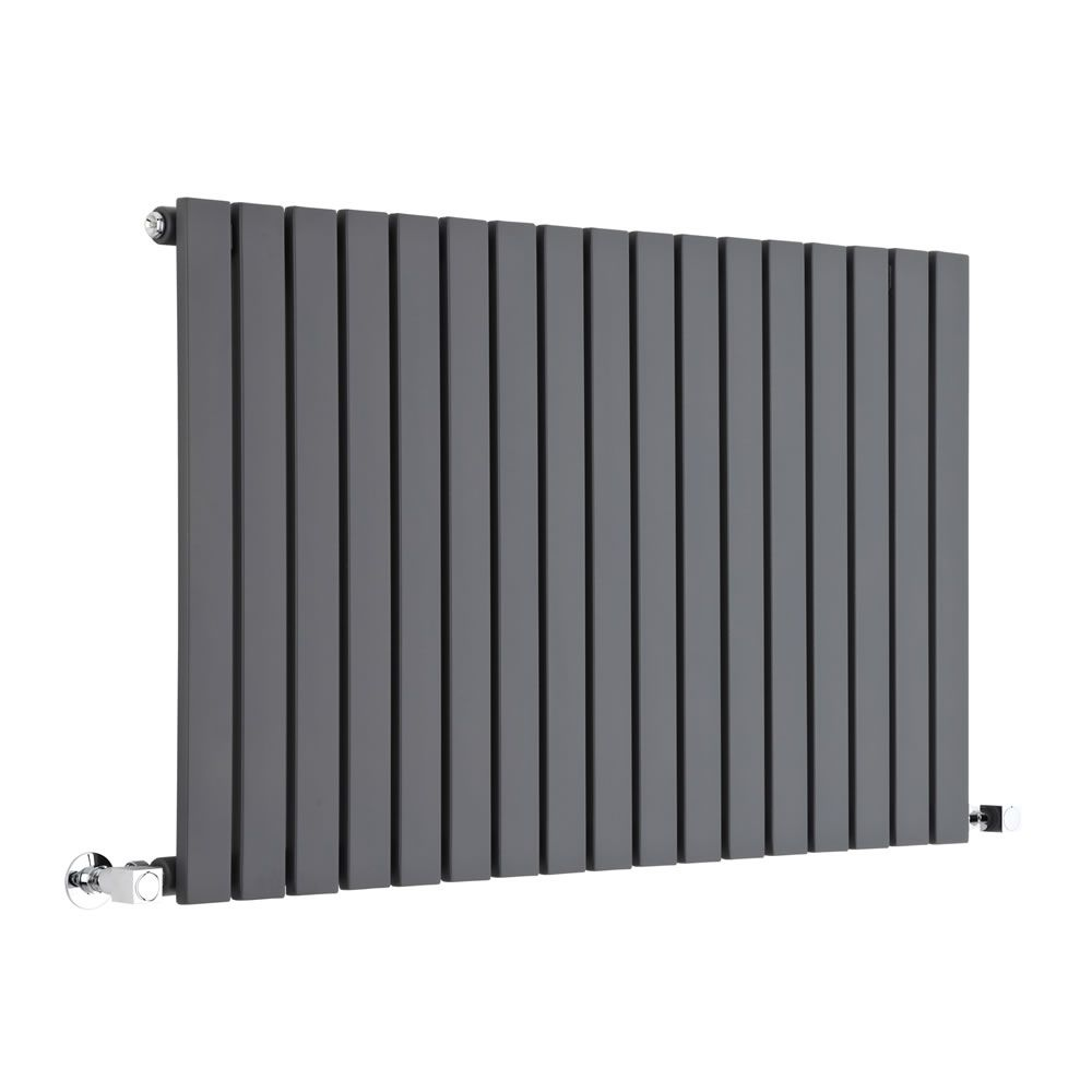 "Sloane - Anthracite Horizontal Flat Panel Designer Radiator 25"" x 39 3/8"""