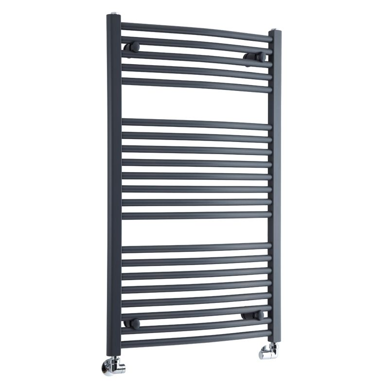 "Anthracite Curved Heated Towel Warmer 39.4"" x 23.6"""
