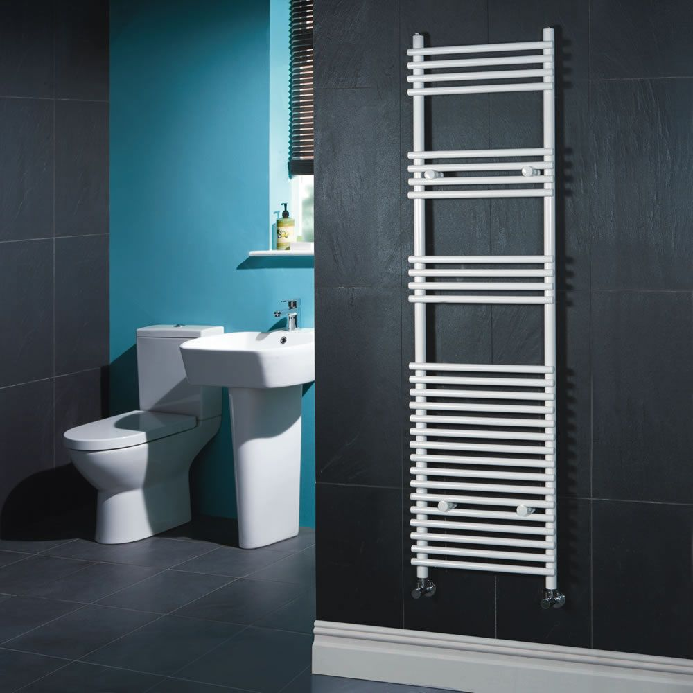 "Flat White Bar on Bar Towel Rail 65"" x 18"""
