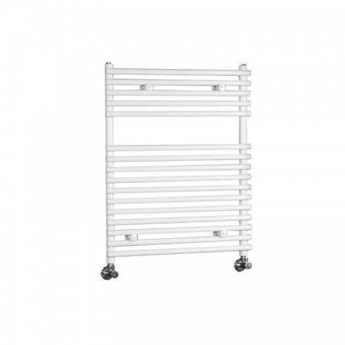 "Flat Bar on Bar Towel Rail 30"" x 24"" - White Powder Coat Finish"