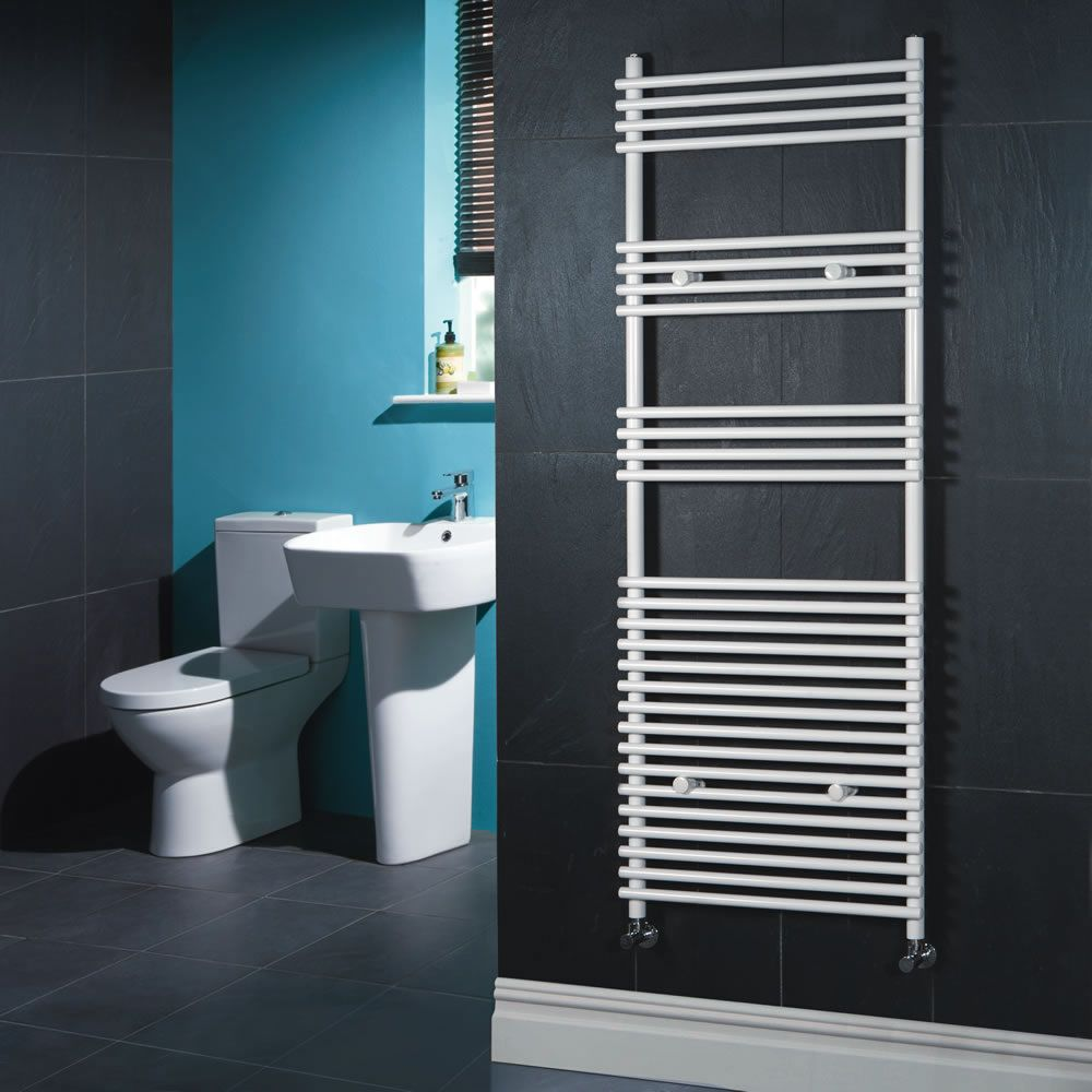 "Flat White Bar on Bar Towel Rail 65"" x 23"""