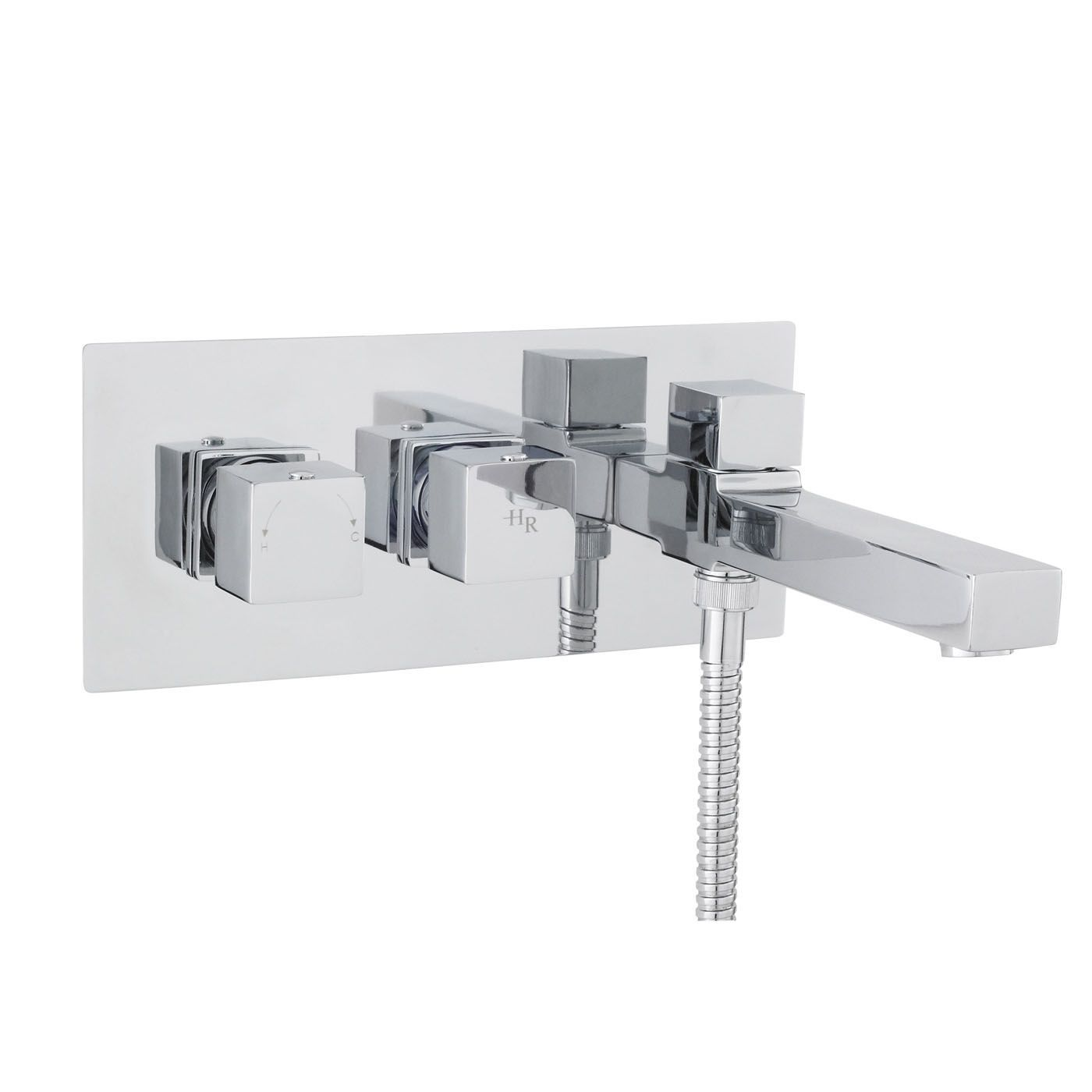 Kubix Thermostatic Wall Mounted Tub Shower Mixer