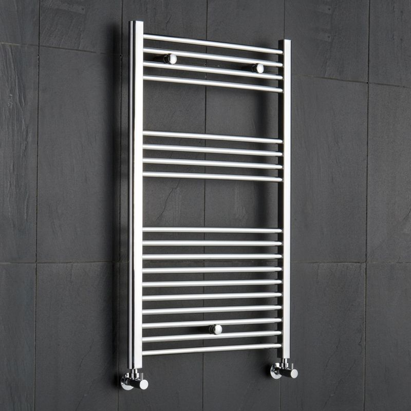 "Flat Heated Bathroom Towel Rack 39.5"" x 19.5"""