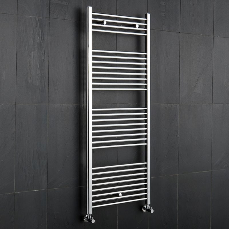"Chrome Curved Heated Towel Radiator Rail 47.25"" x 19.75"""
