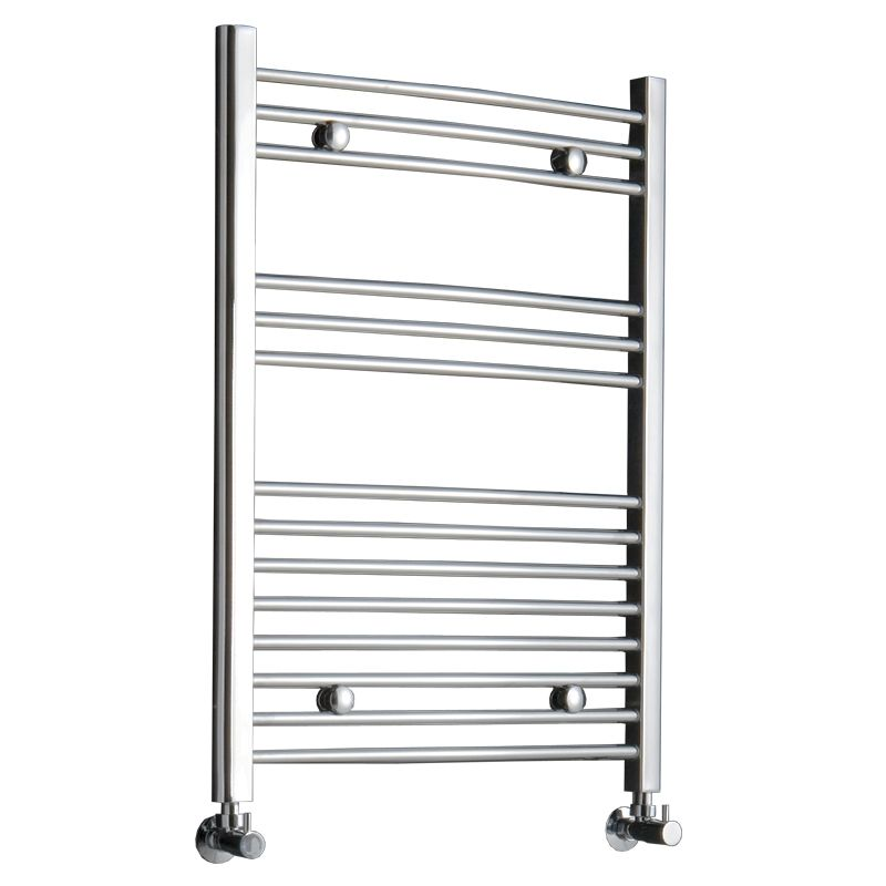 "Curved Heated Towel Rack 31.5"" x 23.6"" - Chrome Finish"
