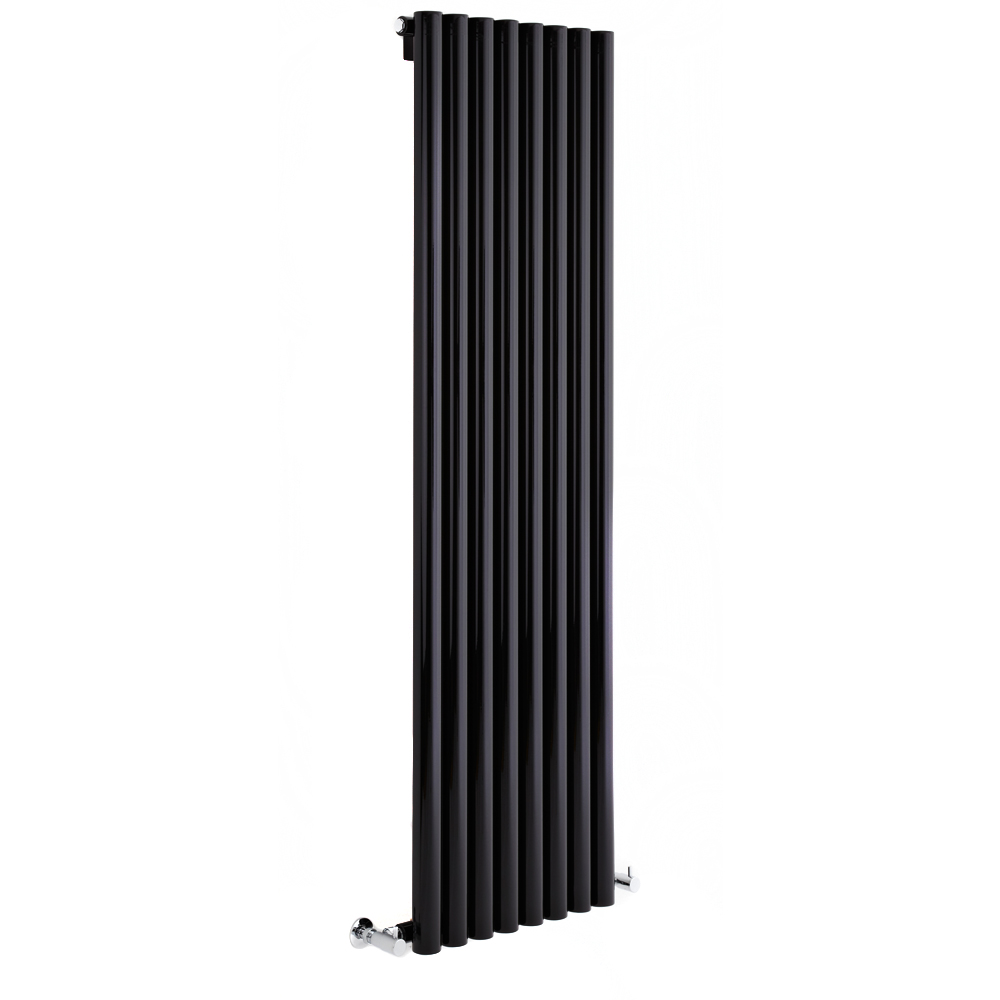 "Savy High Gloss Black Designer Radiator 59"" x 14"" - Closed Loop Systems"