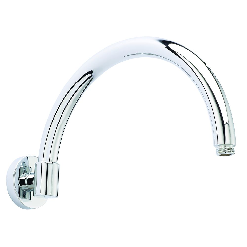 Wall Mounted Curved Shower Arm 12""
