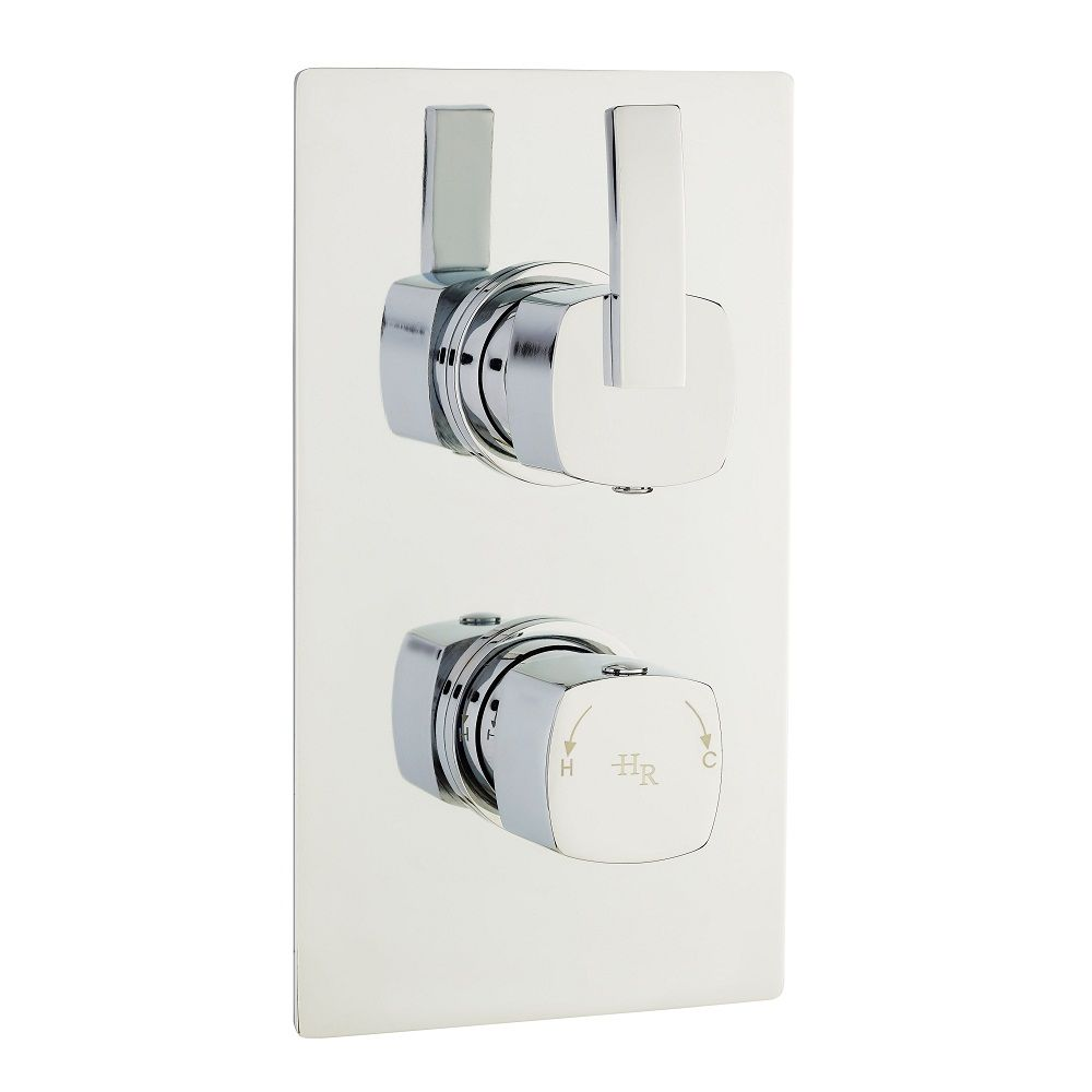 Arcade Twin Concealed Thermostatic Shower With Diverter 2 Outlet Options