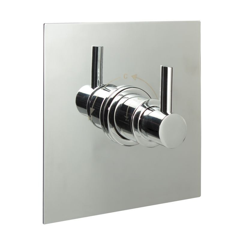 Sequential Valve, Square Plate & Modern Lever Handle