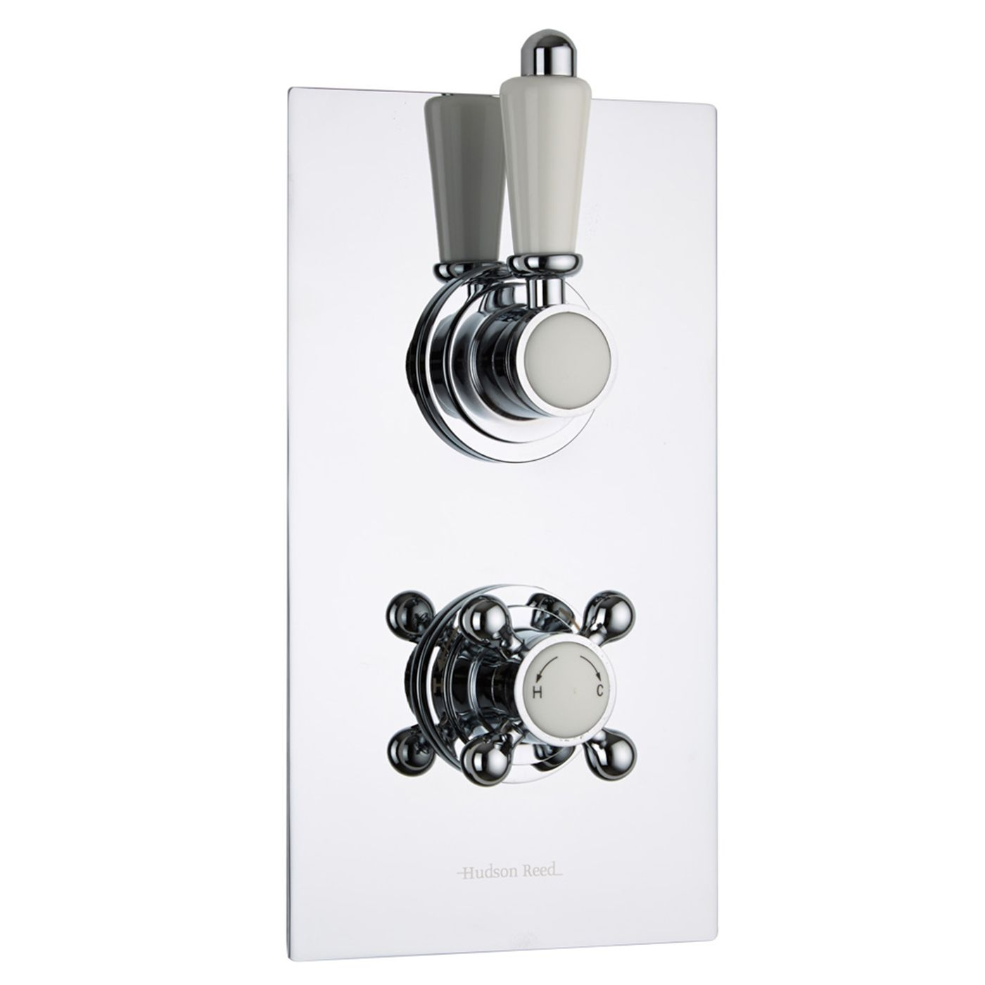Traditional Concealed 1 Outlet Twin Thermostatic Shower Valve