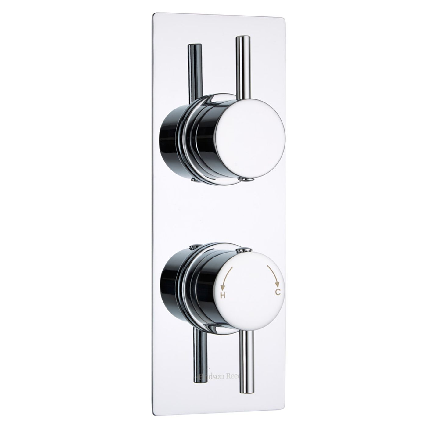 Quest Concealed 1 Outlet Twin Thermostatic Shower Valve (Slim Plate)