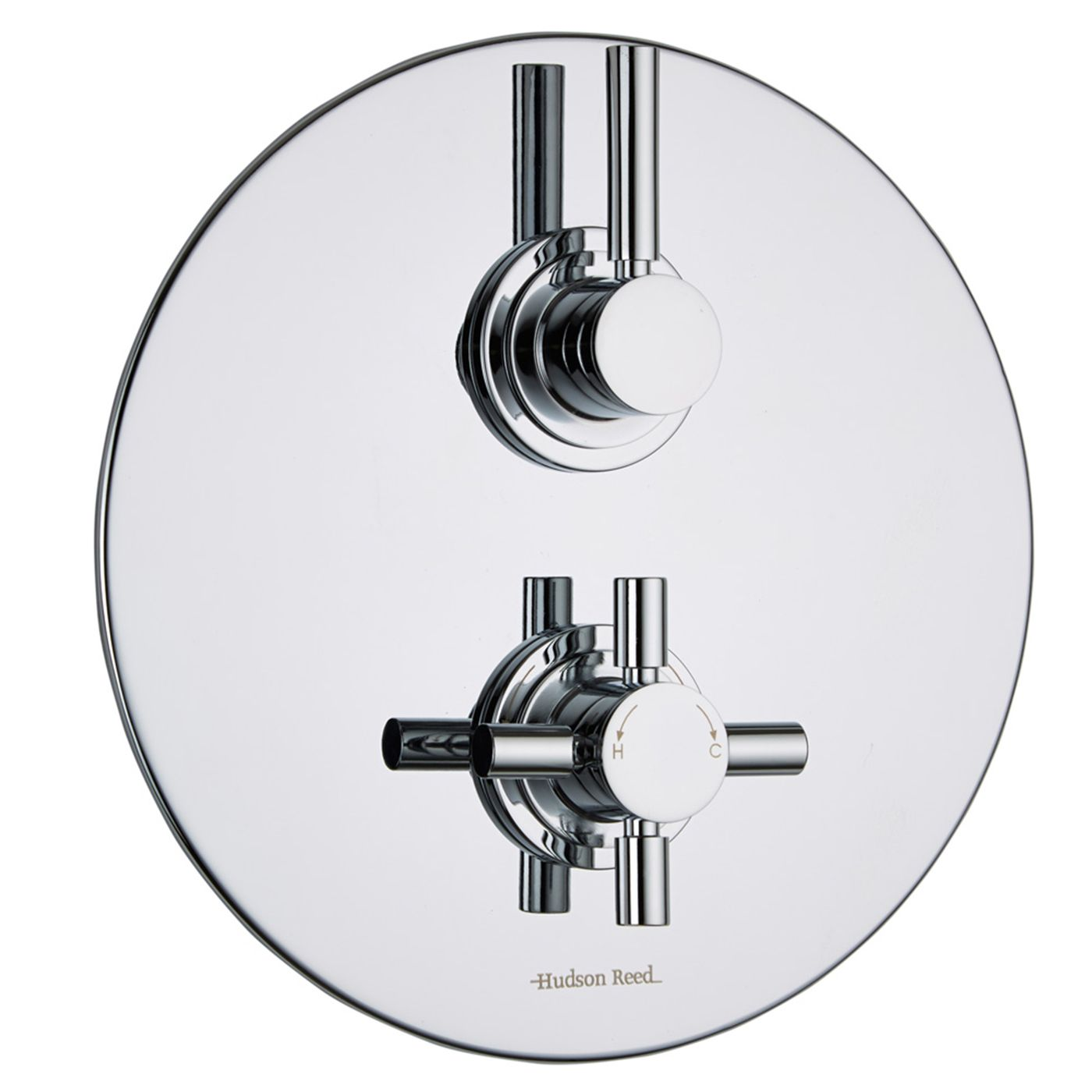 Tec Concealed 2 Outlet Twin with Diverter Thermostatic Shower Valve (Round Plate)