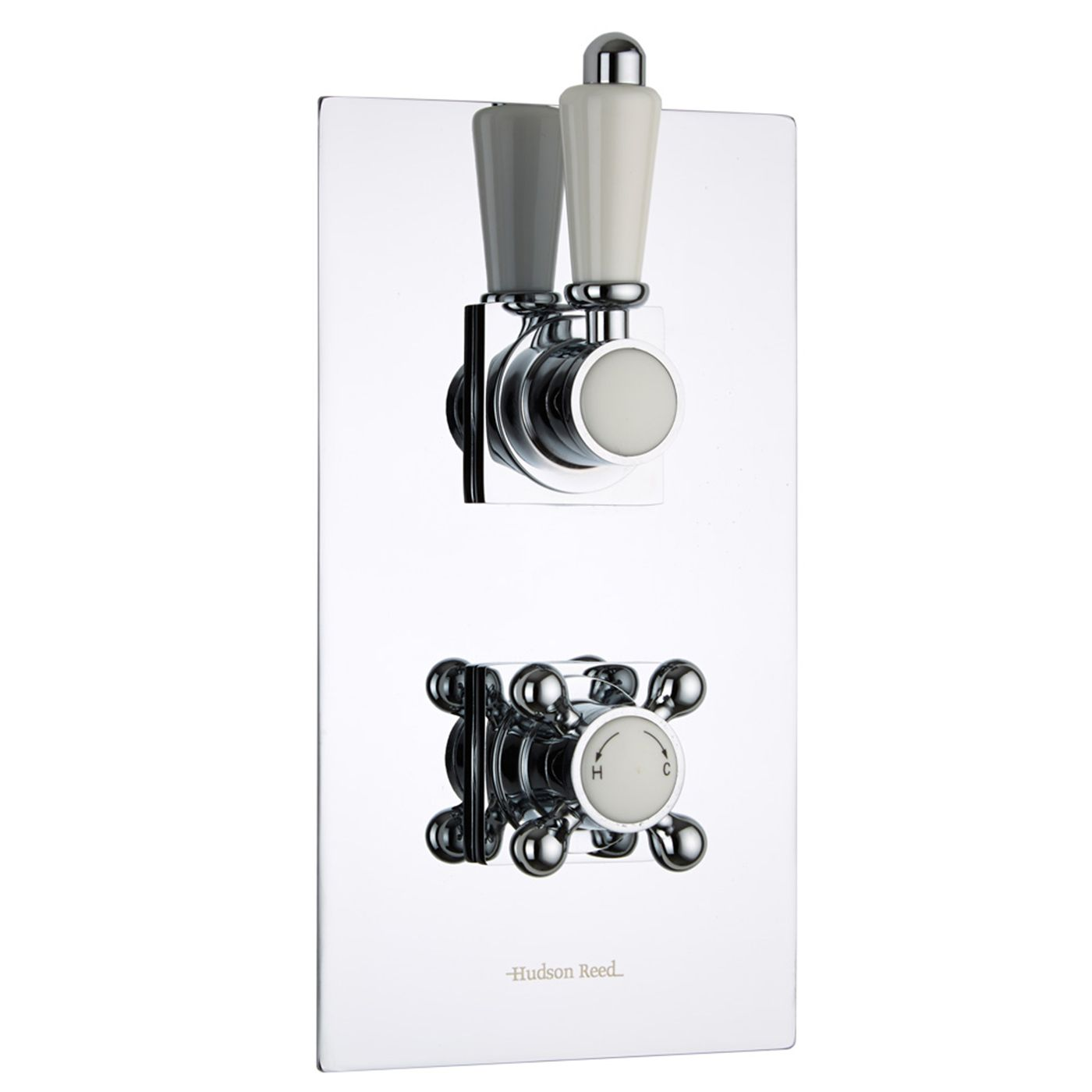 Traditional Concealed 1 Outlet Twin Thermostatic Shower Valve (Square Flange)