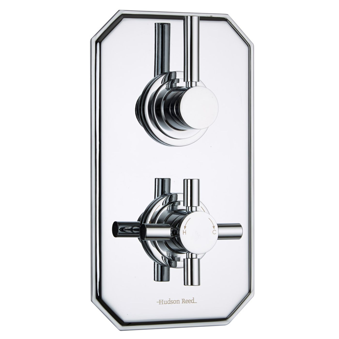 Tec Concealed 1 Outlet Twin Thermostatic Shower Valve (Traditional Plate)