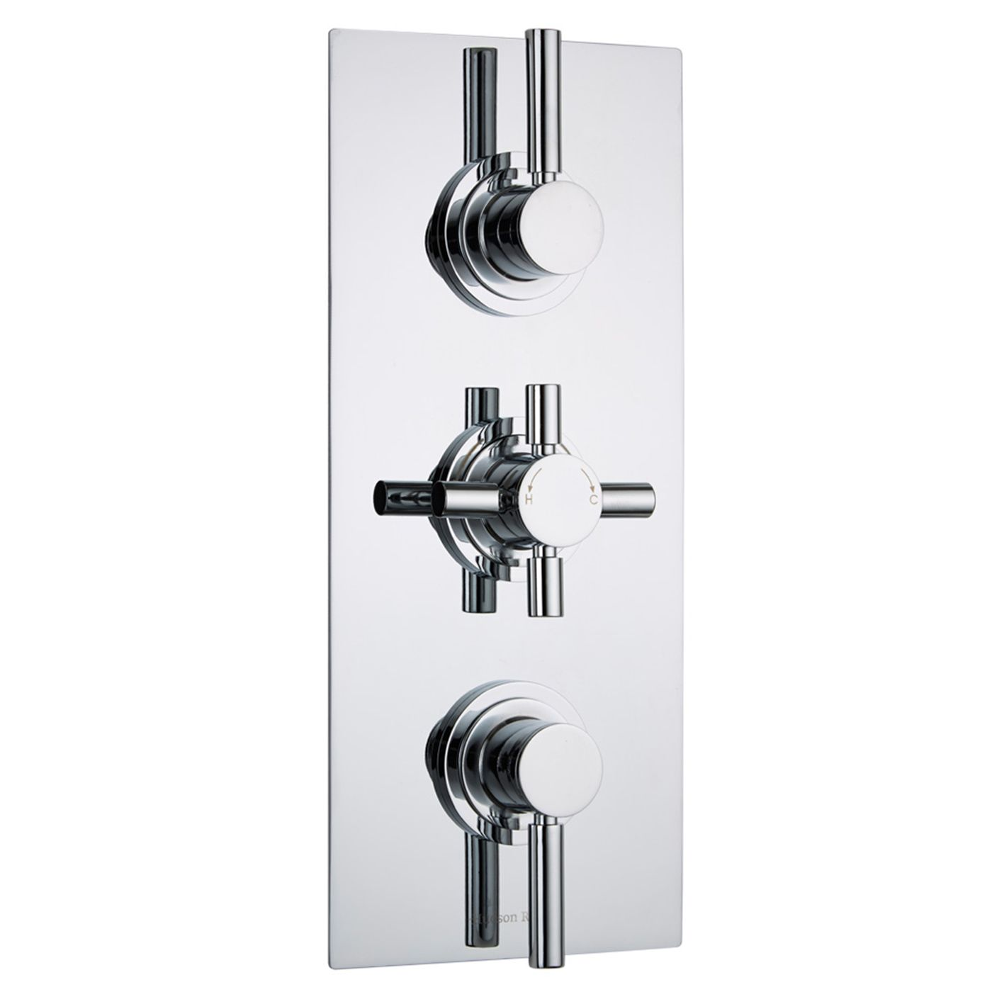 Tec Concealed 2 Outlet Triple Thermostatic Shower Valve