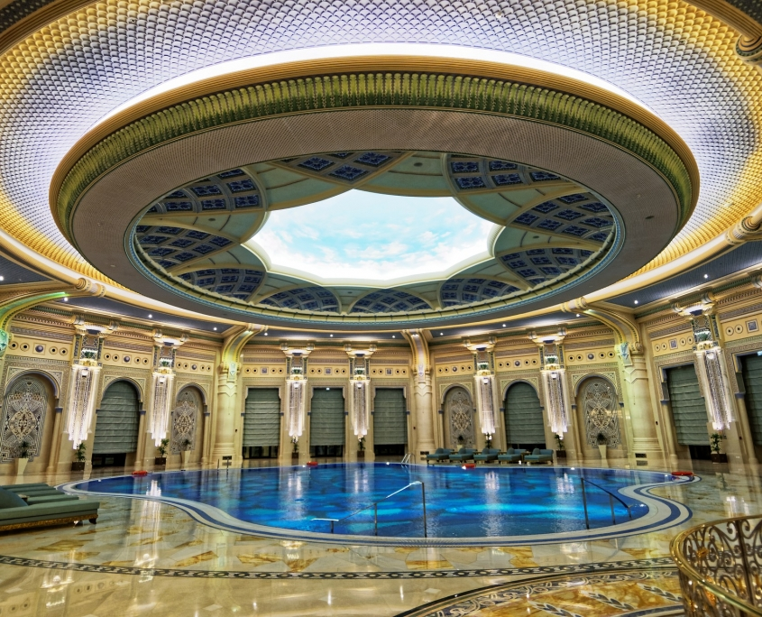 the ritz marble flooring and pool