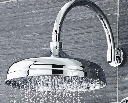 silver shower head