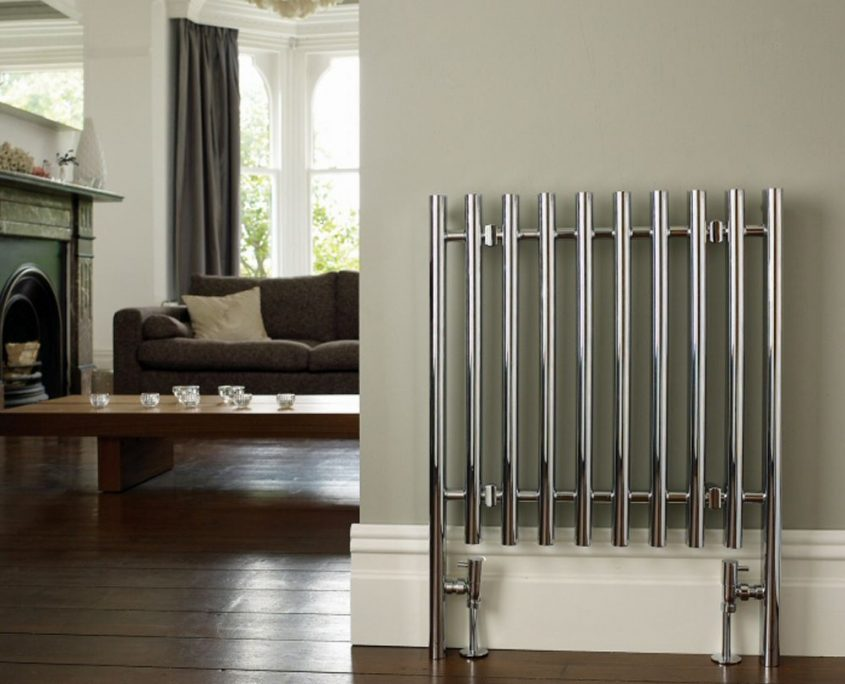 chrome cast iron radiator