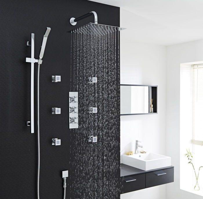 3 outlet shower system