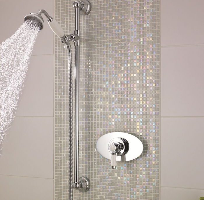 fixed hand shower with handle
