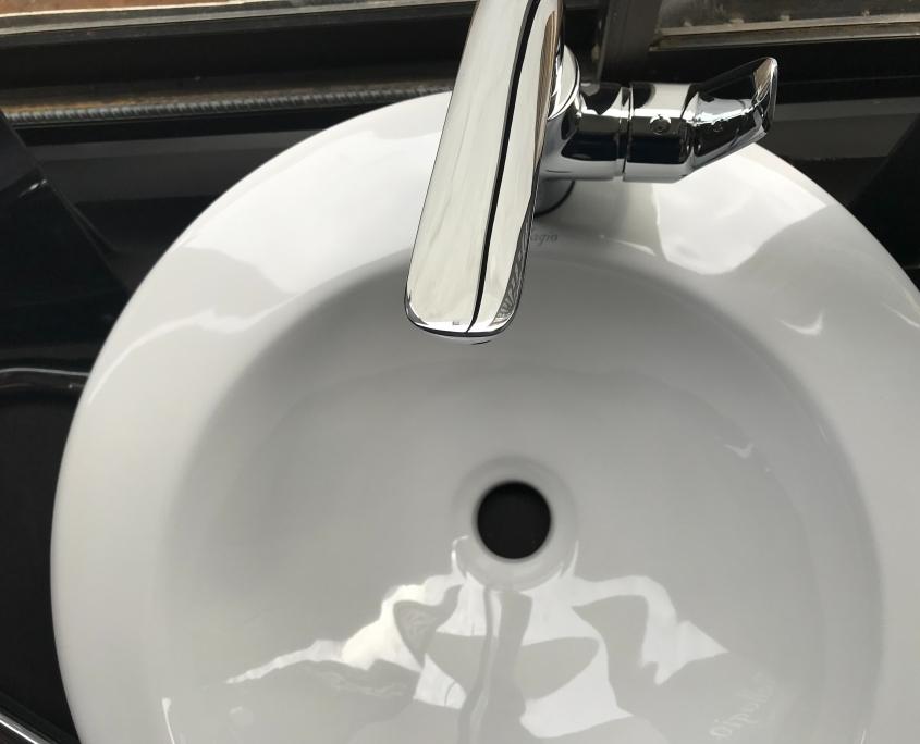 clean bathroom sink