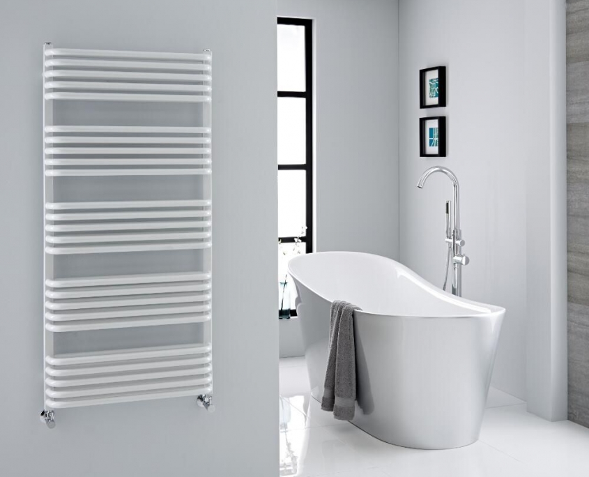 arch white towel warmer