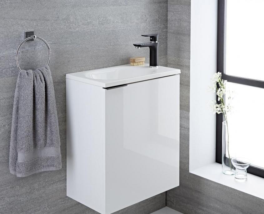 randwick white wall hung vanity unit