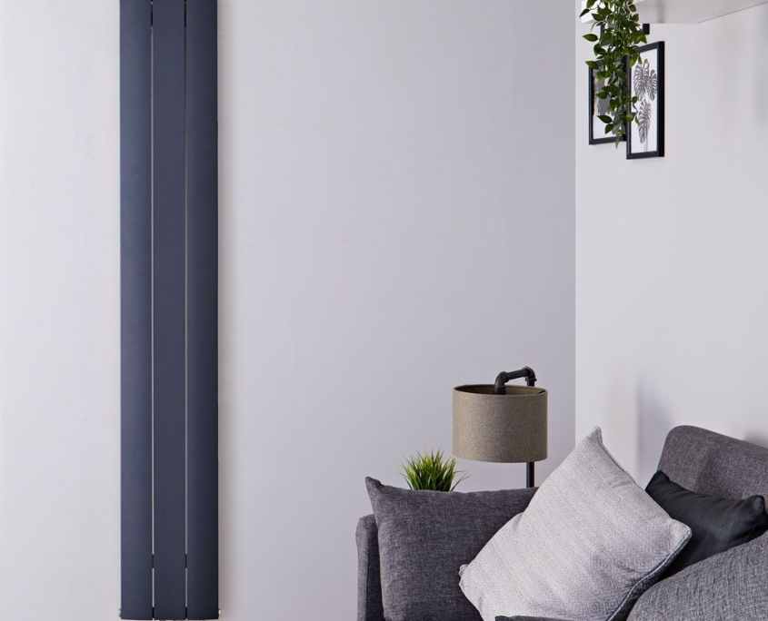 aurora anthracite vertical radiator