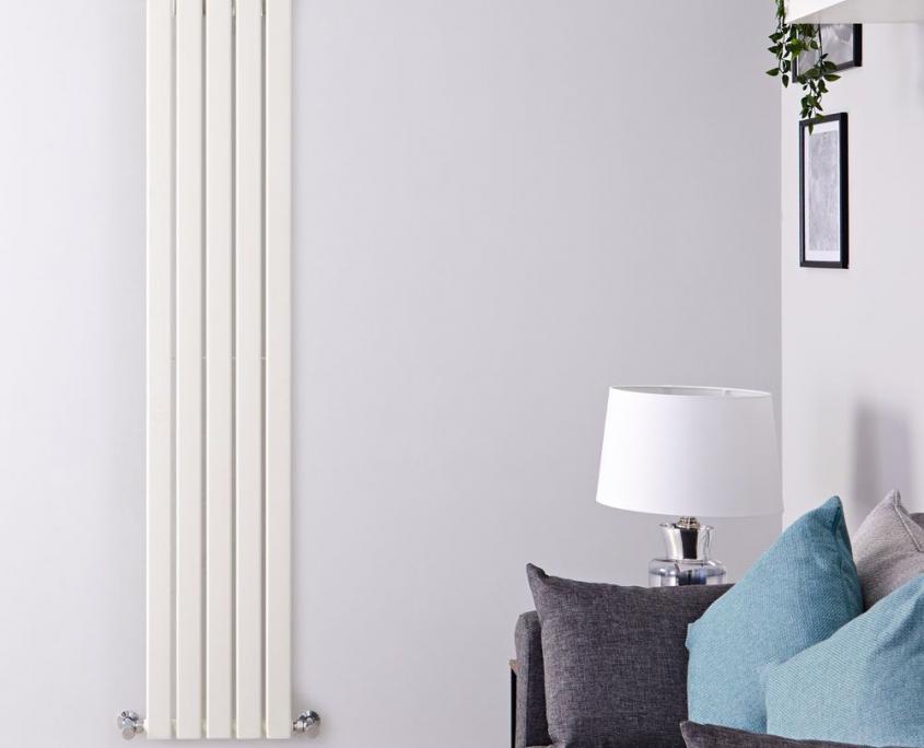delta white vertical radiator
