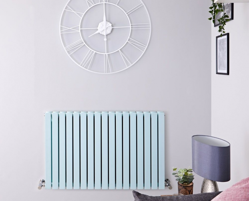 sloane mint green horizontal radiator