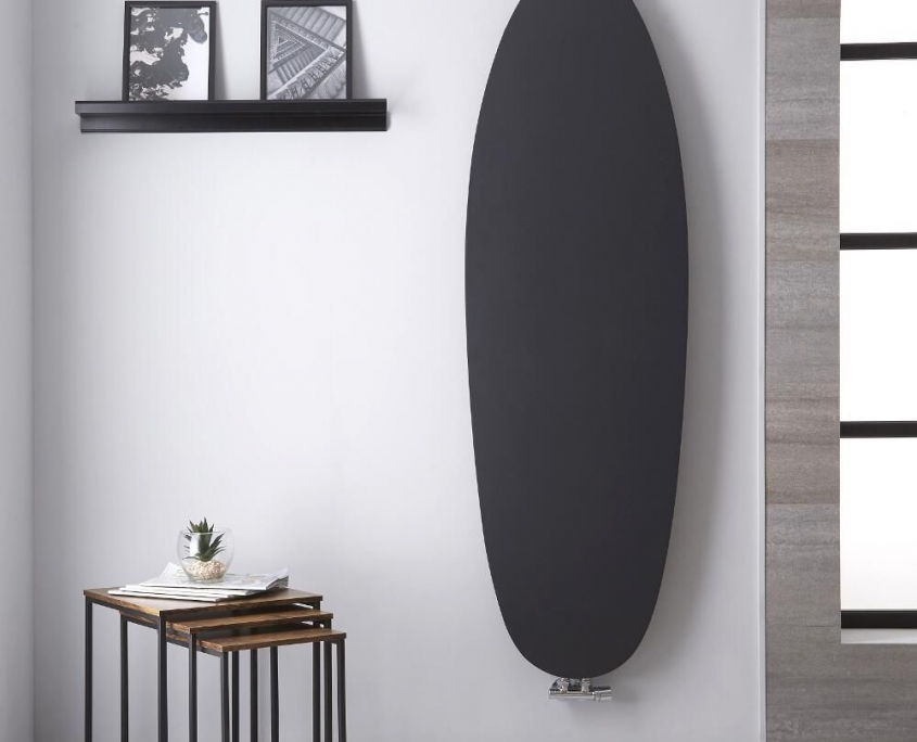 sovana anthracite vertical designer radiator