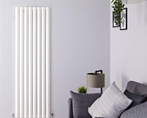 edifice white vertical designer radiator