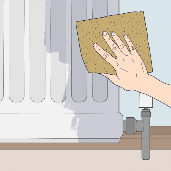 sanding radiator animated