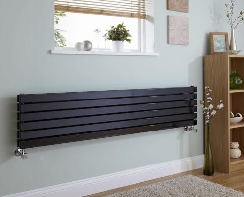 sloane black horizontal radiator