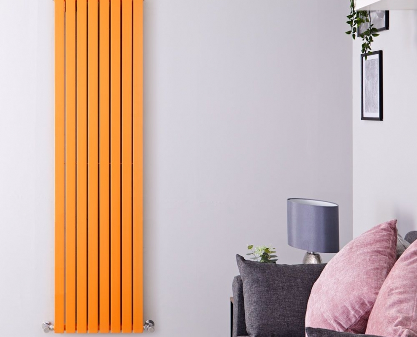 sloane orange vertical radiator