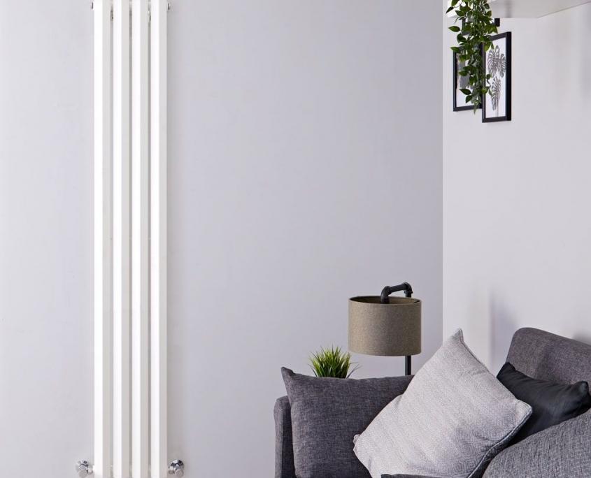 edifice white vertical single panel radiator