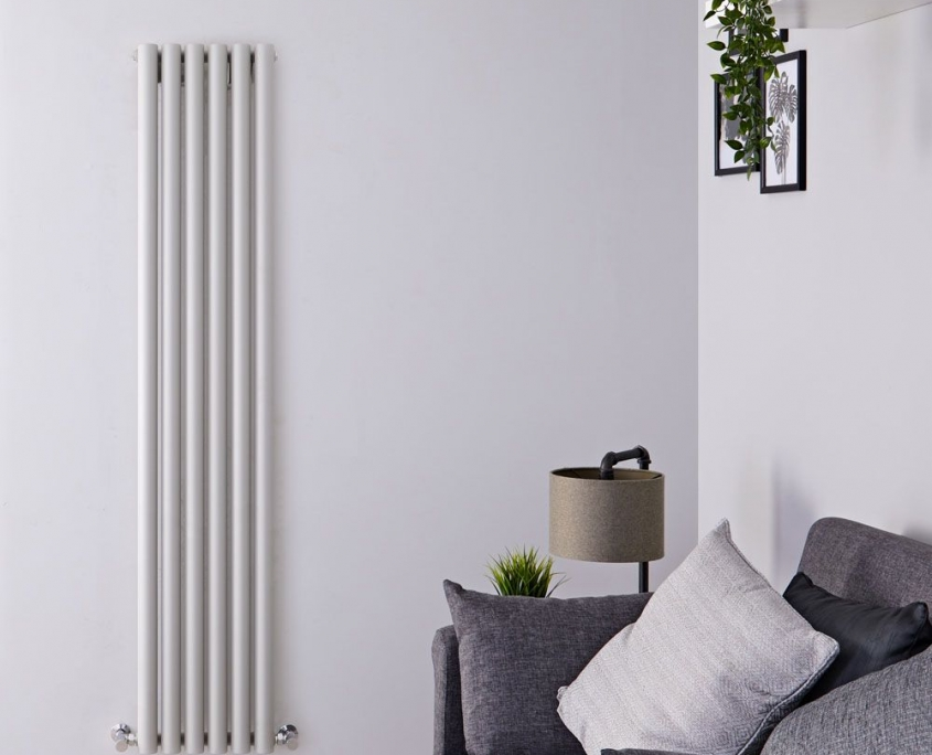 savy silver vertical radiator