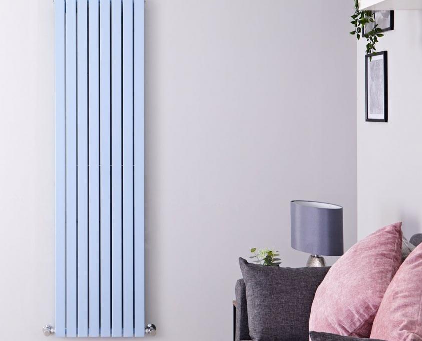 sloane baby blue vertical radiator