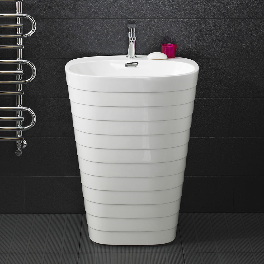 Modern Hive Floorstanding Pedestal Sink