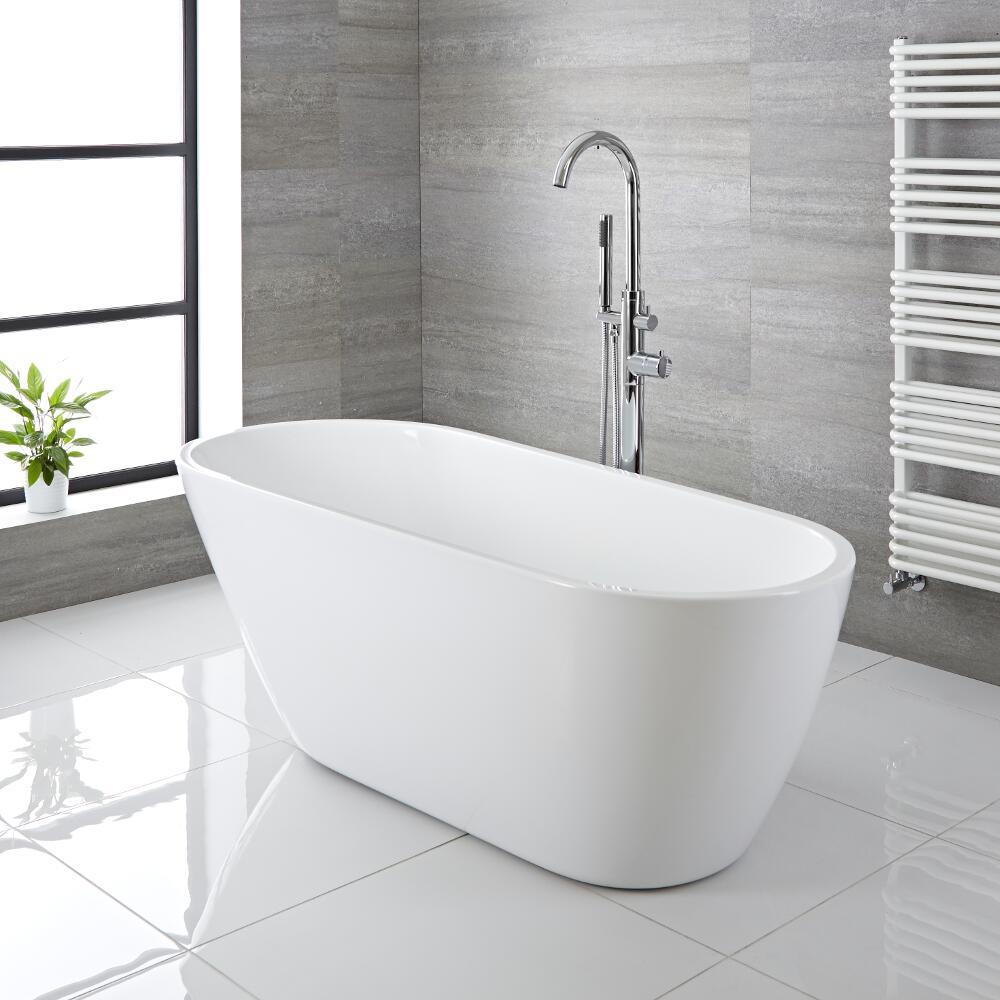 """Modern Acrylic Freestanding Bath Tub 65"""""""