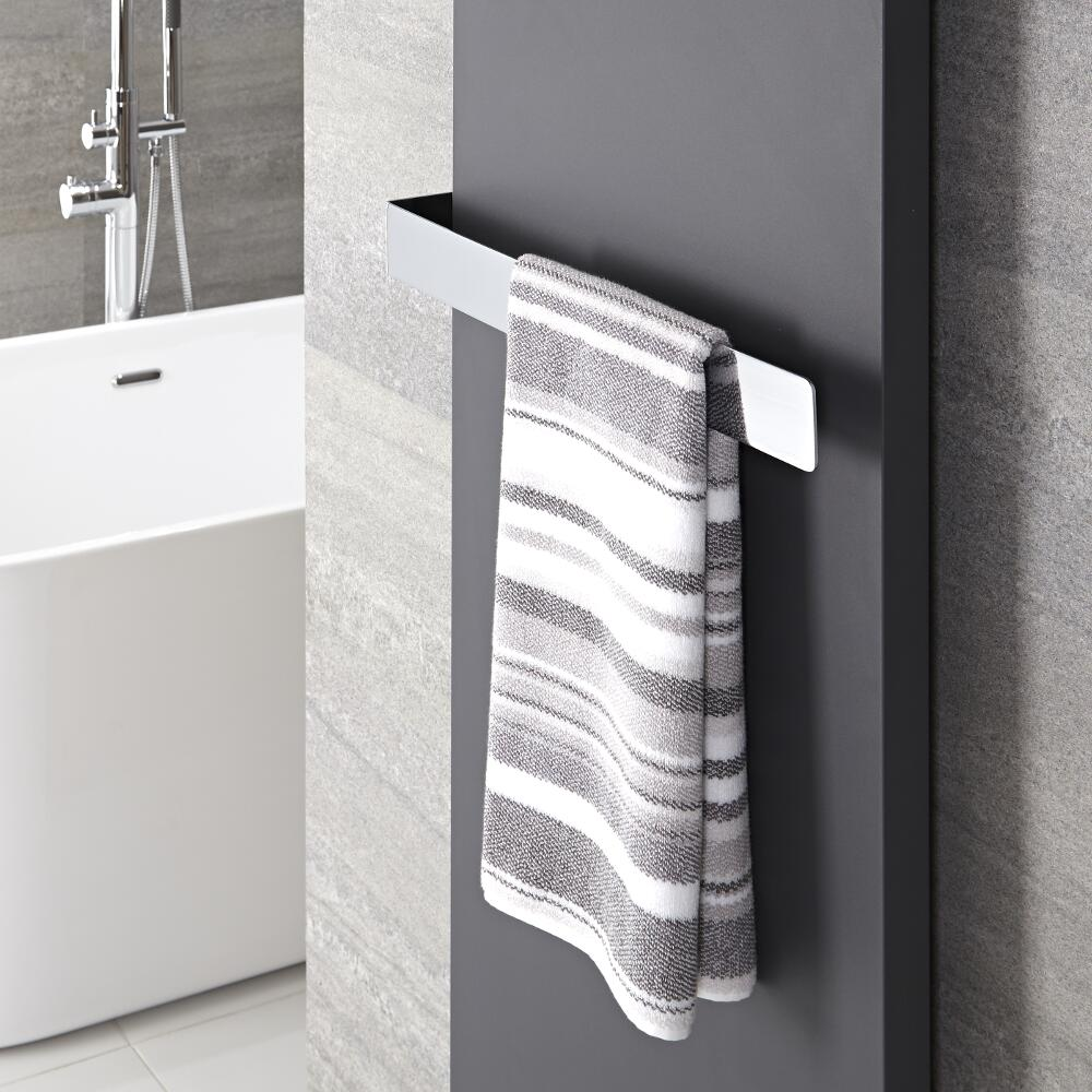 "Hudson Reed Wall Mounted Towel Rail - 20.5"" x 2.25"""