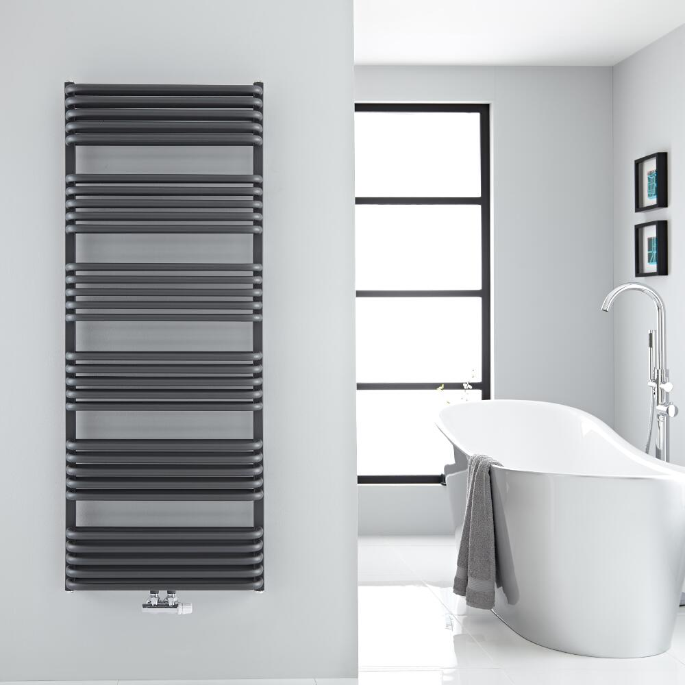 """Arch - Anthracite Hydronic Heated Towel Warmer - 60.25"""" x 23.5"""""""
