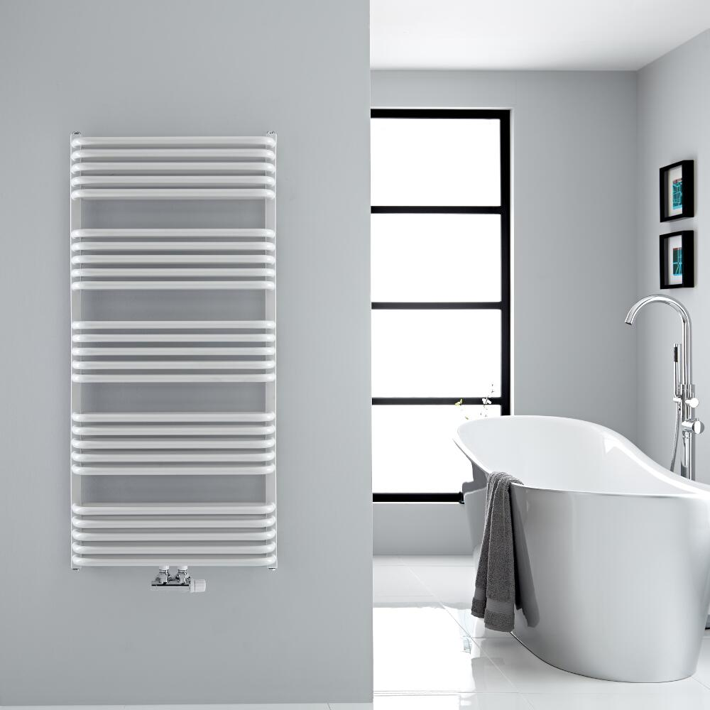"""Arch - White Hydronic Heated Towel Warmer - 50"""" x 23.5"""""""