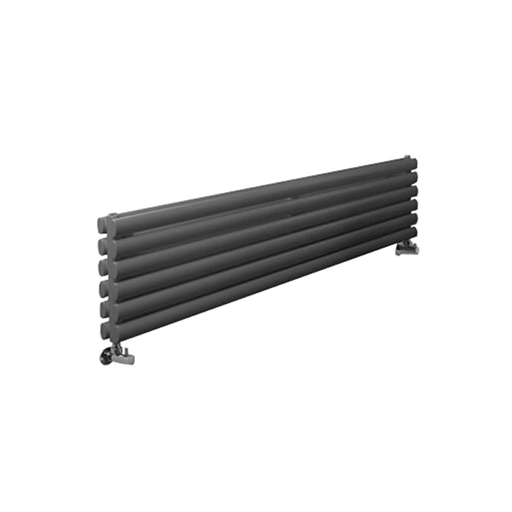 """Revive - Anthracite Horizontal Double-Panel Designer Radiator - 14"""" x 70"""""""