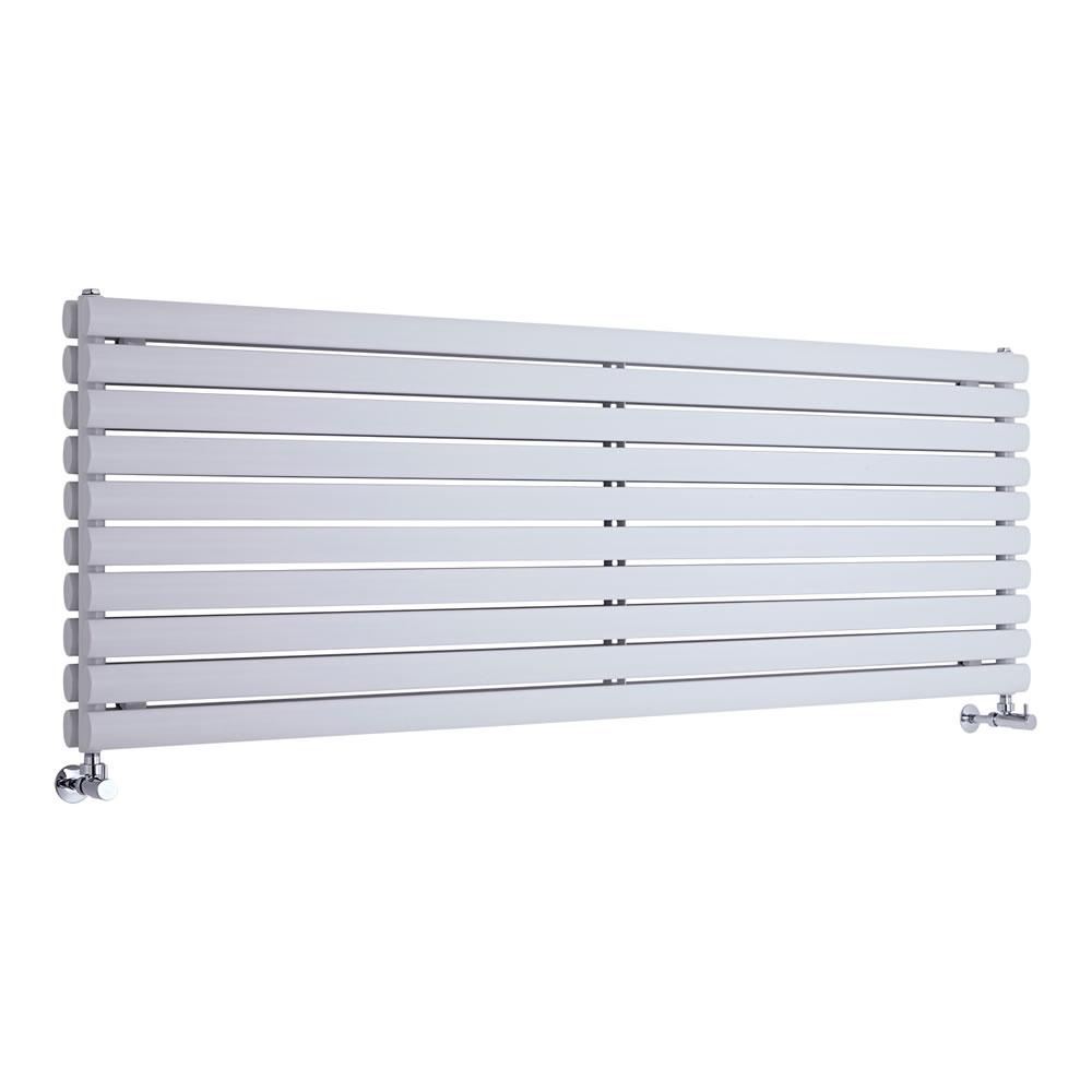"Revive - White Horizontal Double-Panel Designer Radiator - 23.25"" x 70"""